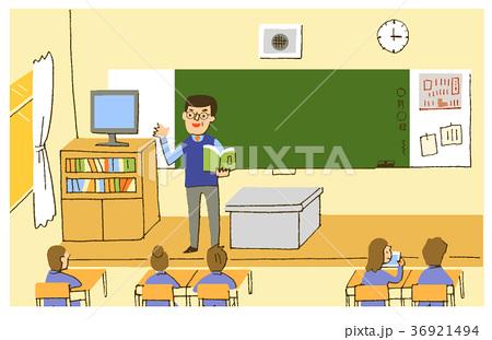 教室と先生 36921494
