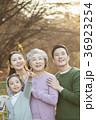 指す 指さす 家族の写真 36923254
