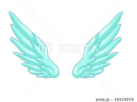 羽 天使のイラスト素材 36929959 Pixta