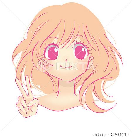 女の子 笑顔のイラスト素材 36931119 Pixta