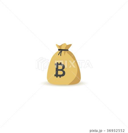 Bitcoin bag illustration 36932552