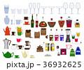 生活用品のアイコン素材集。台所。食器類、カップの素材。 36932625