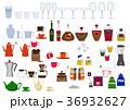 生活用品のアイコン素材集。台所。食器類、カップの素材。 36932627