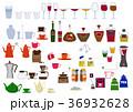 生活用品のアイコン素材集。台所。食器類、カップの素材。 36932628
