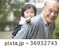 孫と遊ぶシニア 36932743