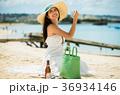 人物 女性 海岸の写真 36934146