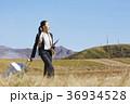 人物 女性 草原の写真 36934528