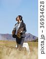 人物 女性 草原の写真 36934628