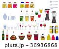 カクテルのセット。アルコール飲料。飲み物のアイコン素材集。 36936868