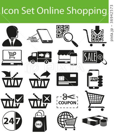 Icon Set Online Shopping 36942573