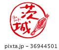 茨城 筆文字 水彩画 36944501