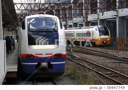 新潟駅にて、E653系電車並び 36947749