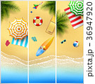 Set of Three tropical beach 36947920