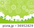 花火 街 グリーン背景 36952829