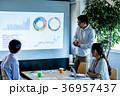 オフィス ビジネス 打合せ プロジェクター スクリーン 36957437