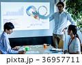 オフィス ビジネス 打合せ プロジェクター スクリーン 36957711