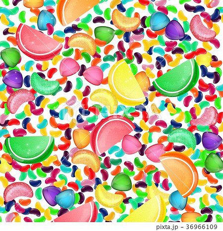 colorful candy background with jelly beans and jeのイラスト素材