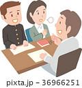 三者面談 進路相談 男子学生のイラスト 36966251