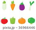 野菜 食材 アイコンのイラスト 36966446