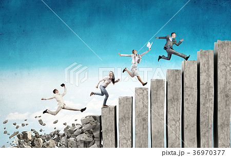 Up the career ladder overcoming challenges 36970377