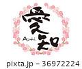 愛知 桜 フレーム 筆文字 36972224