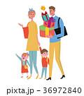 プレゼントを買いに行く 家族 イラスト 36972840