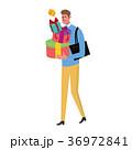 プレゼントを買う 男性 イラスト 36972841