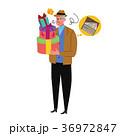 プレゼントを買う中年男性 イラスト 36972847