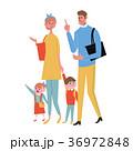 買い物 イラスト 家族 36972848