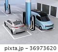 電気自動車 充電 充電スタンドのイラスト 36973620