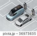 電気自動車 充電 充電スタンドのイラスト 36973635
