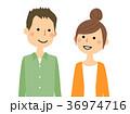 夫婦 カップル 若いのイラスト 36974716