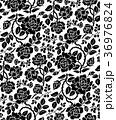 パターン 薔薇 花柄のイラスト 36976824
