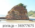 稲佐の浜 弁天島 晴れの写真 36977675