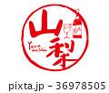山梨 筆文字 ワイン 水彩画 36978505