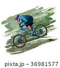 An image of a cyclist on a mountain bike  36981577