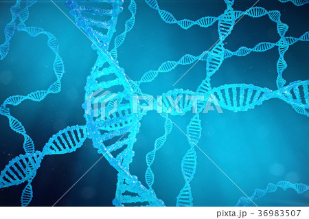 Helix DNA molecule with modified genes. Correcting 36983507