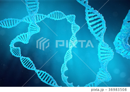 Helix DNA molecule with modified genes. Correcting 36983508