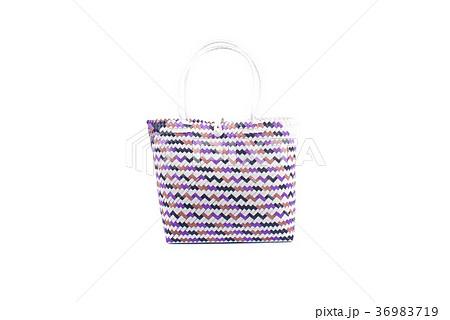 wicker woman's tote bag, isolated の写真素材 [36983719] - PIXTA