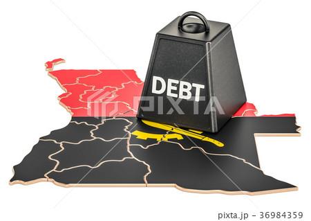 Angolan national debt or budget deficit 36984359