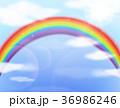 にじ レインボー 虹のイラスト 36986246