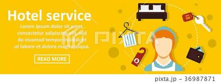 Hotel service banner horizontal concept 36987871