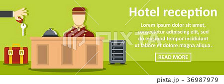 Hotel reception banner horizontal concept 36987979