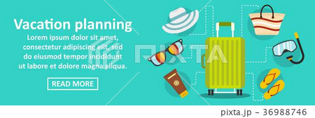 Vacation planning banner horizontal concept 36988746