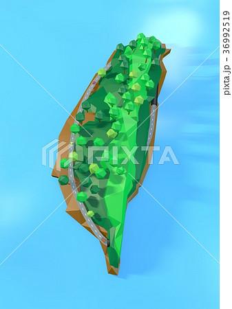 立體且迷你的台灣地圖 36992519