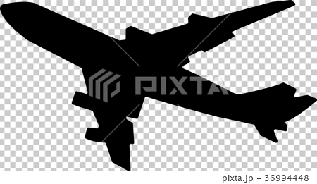 Airplane silhouette illustration 36994448