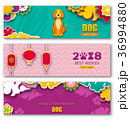 Collection Banners with Chinese New Year Dog 36994880