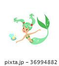 マーメイド マーメード 人魚のイラスト 36994882