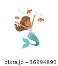 マーメイド マーメード 人魚のイラスト 36994890