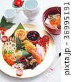 おせち料理 ワンプレート 正月料理の写真 36995191
